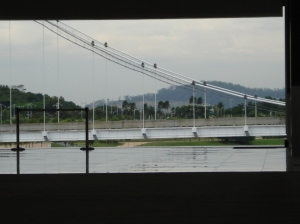 One of the beautiful bridges of Putrajaya on the left